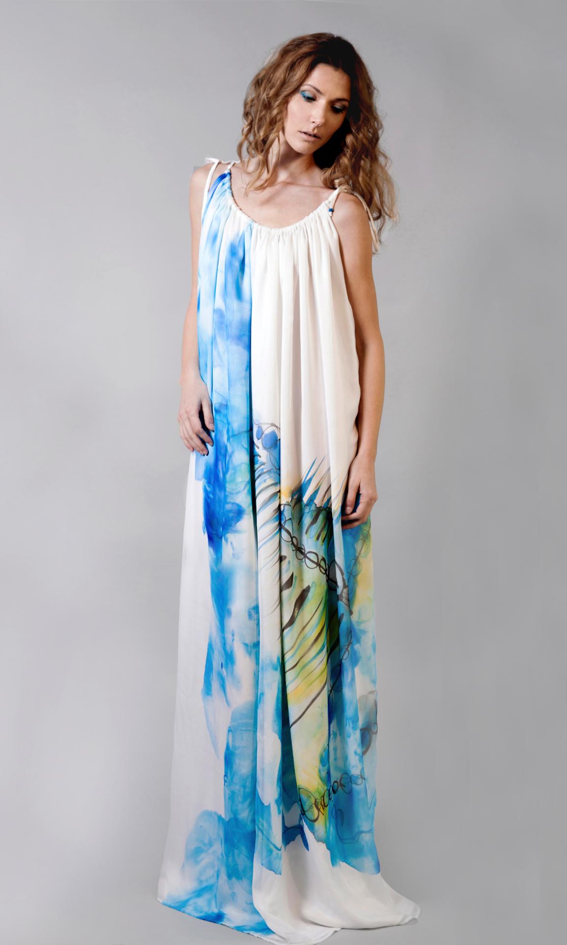 Aqua by aqua web maxi dress