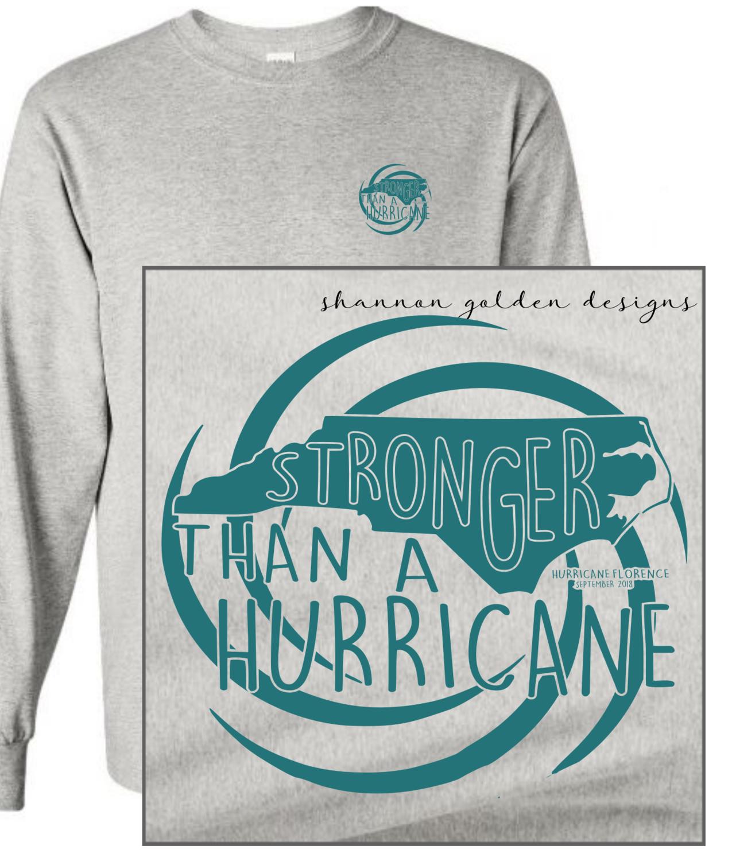 Gray Long Sleeve Hurricane Florence Fundraiser