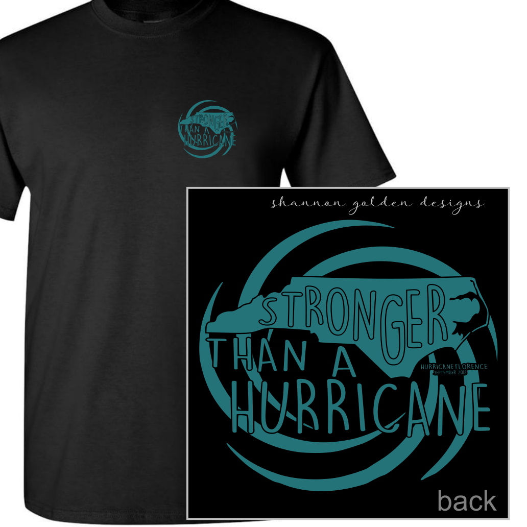 Black Short Sleeve Hurricane Florence Fundraiser