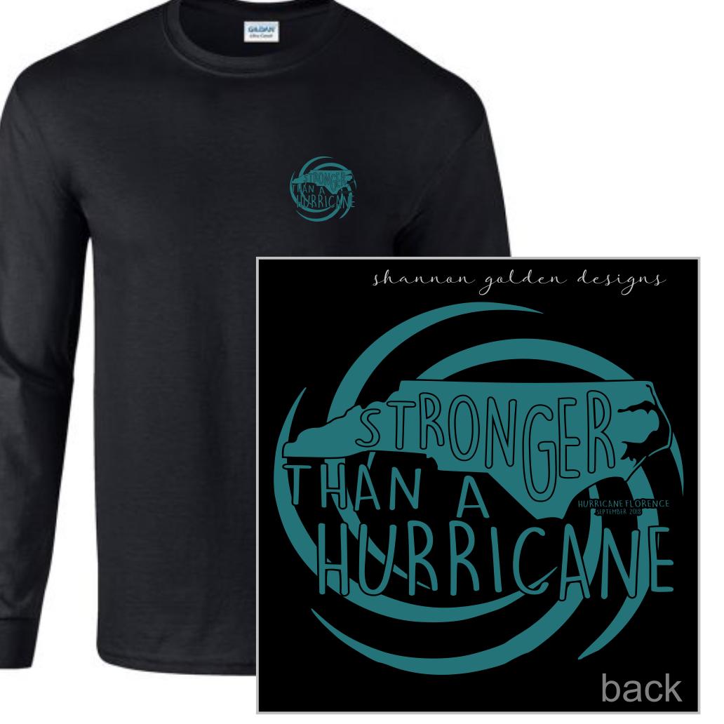 Black Long Sleeve Hurricane Florence Fundraiser