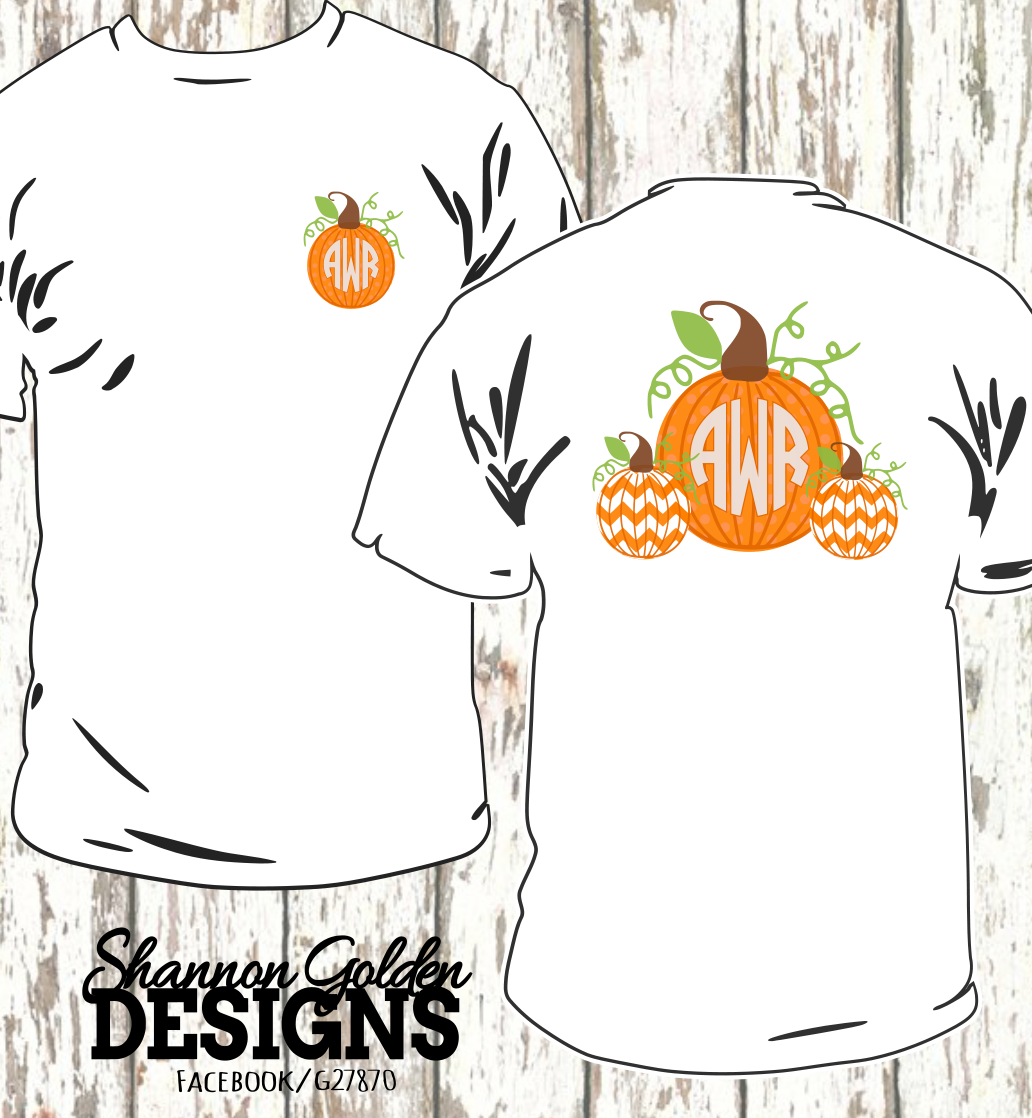 Fall Pumpkin Monogram Shirt