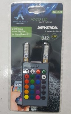 KIT DE FOCOS LED DE PELLIZCO RGB C/CONTROL