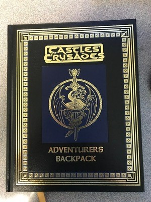 Castles & Crusades Adventurers Backpack Leather -- No Stamp