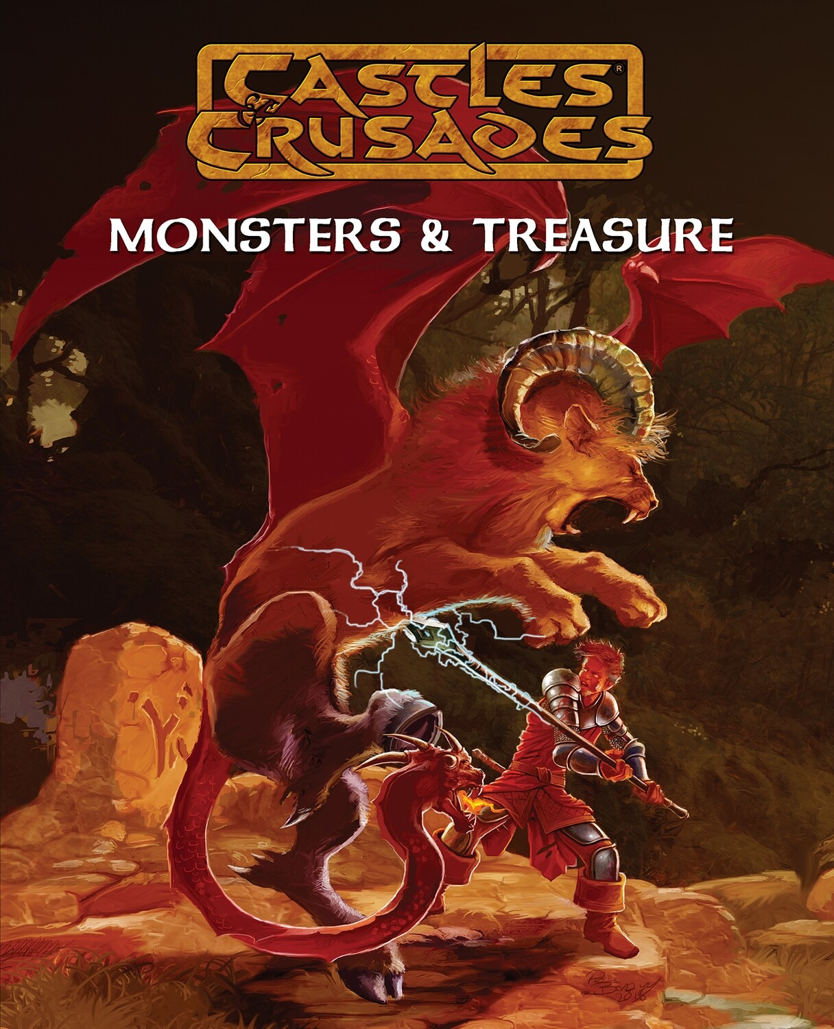 Monsters and Treasures 5th Printing: Castle and Crusades RPG -  Troll Lord Games