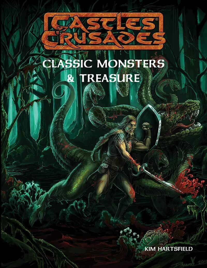 Castles & Crusades Classic Monsters & Treasure Print -- X -- Damaged