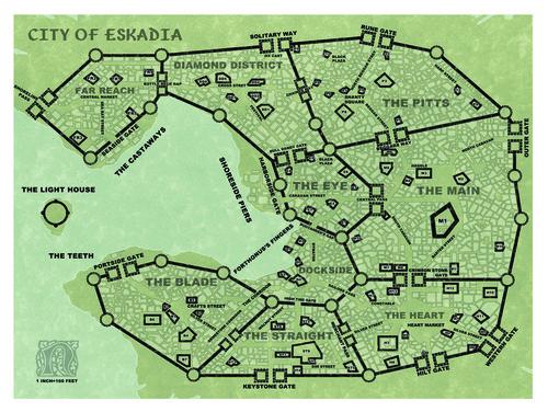 Castles & Crusades Free City of Eskadia -- Maps PD