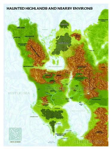 Castles & Crusades Haunted Highlands -- World Map D