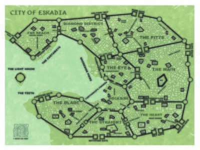 Castles & Crusades Free City of Eskadia -- Maps
