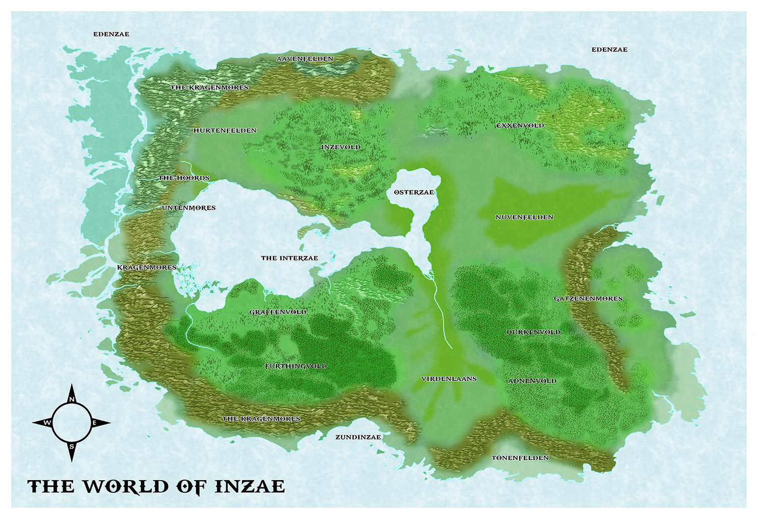 Castles & Crusades Inzae World Map -- Print
