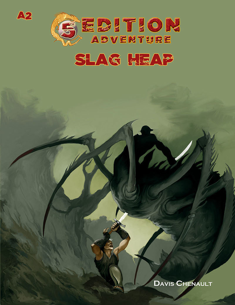 5th Edition Adventure A2 Slag Heap Print + Digital Combo