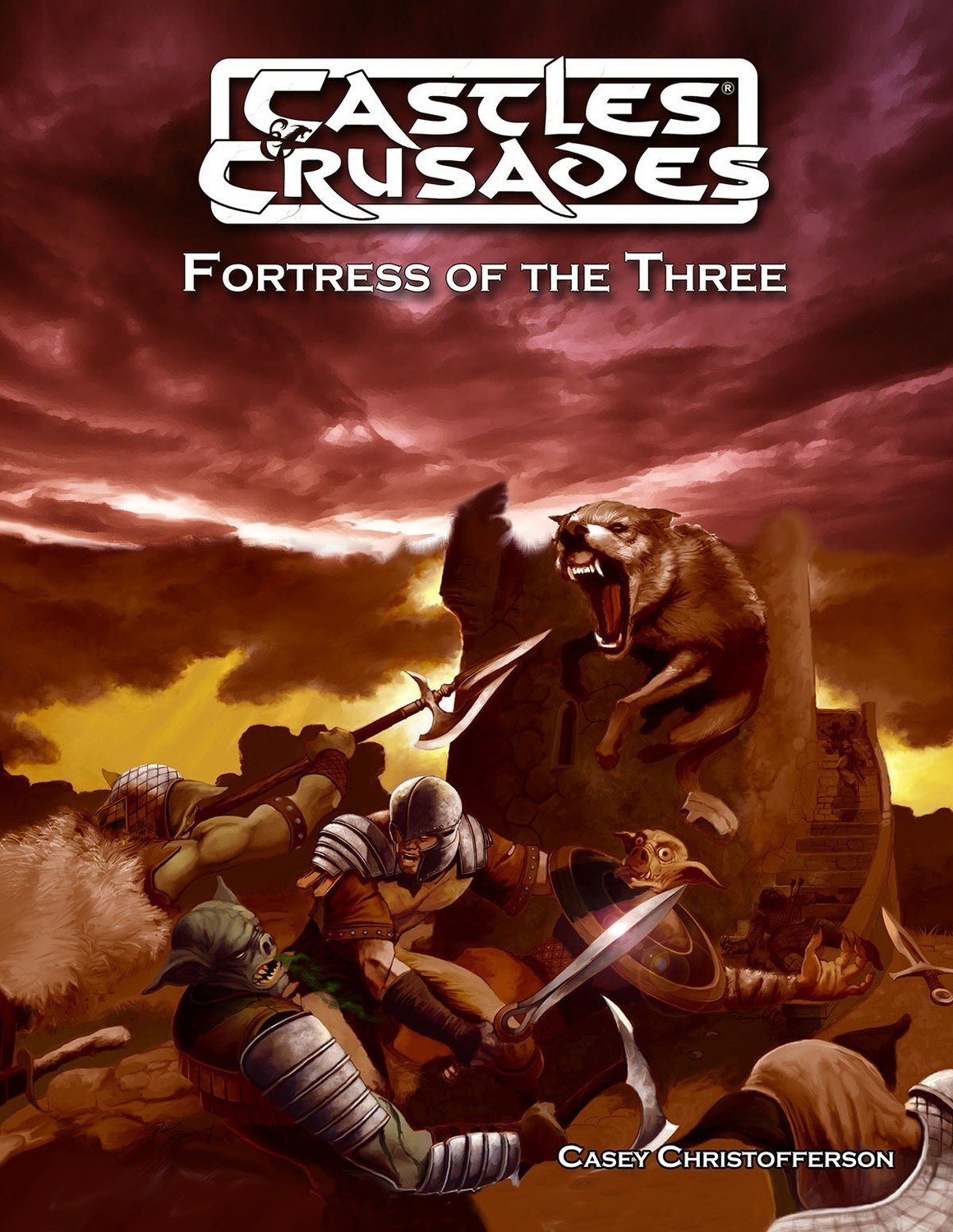 Castles & Crusades Fortress of The Three Print + Digital Combo