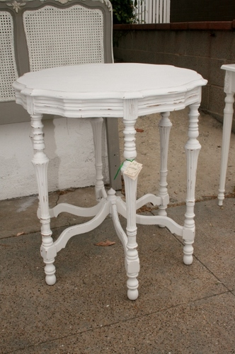 Vintage Round End Table