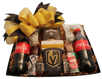 LV: Golden Knights Jack Daniels Snack Basket