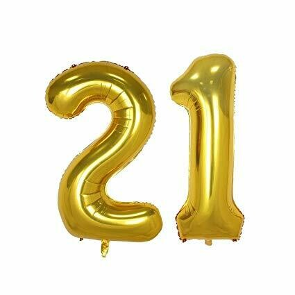 Balloons Large mylar Birthday Numbers