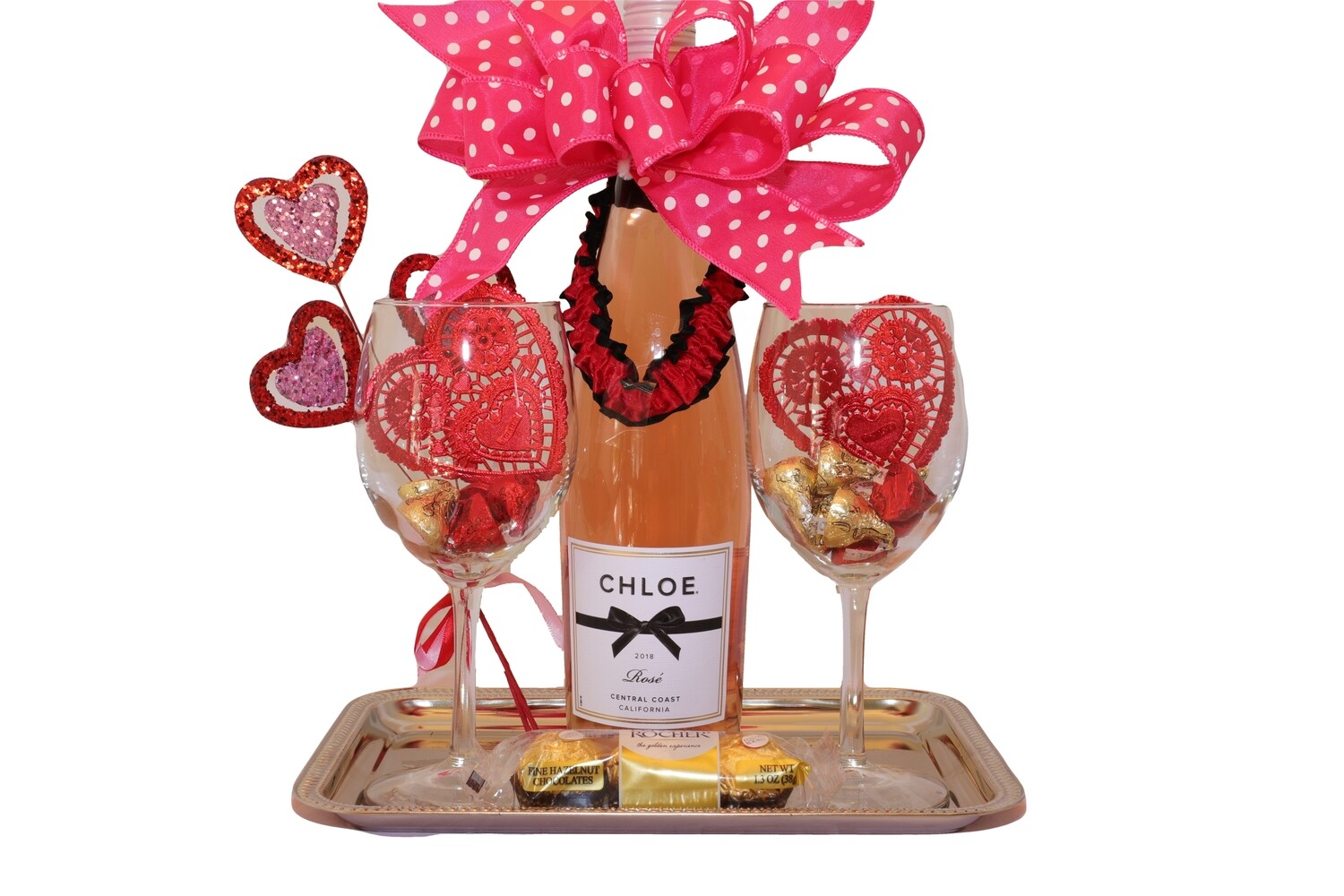 Valentines - Rose Wine for Two