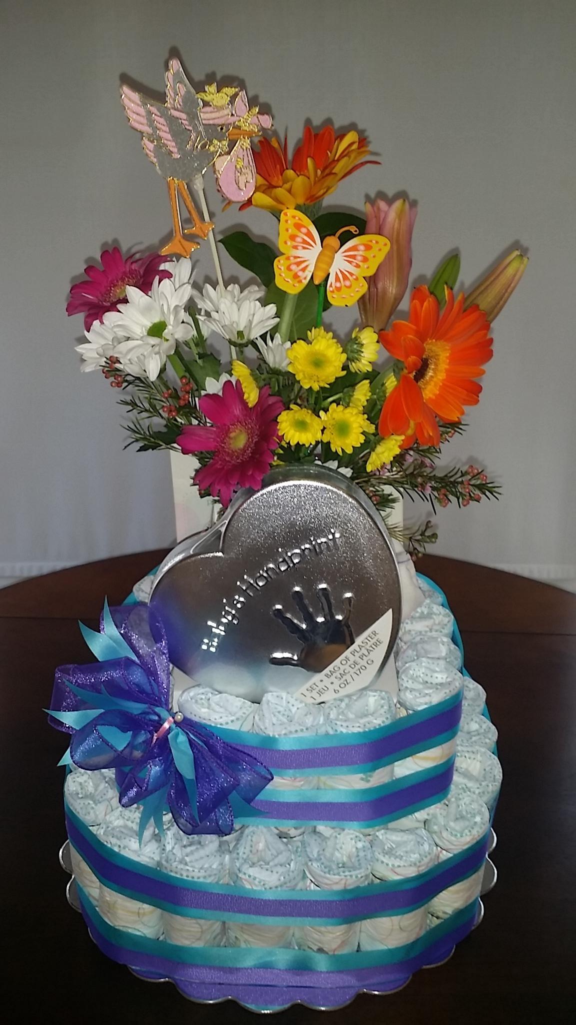 New Baby 'Diaper cake' Gift BB-0020
