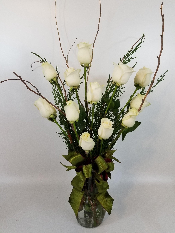 Dozen White Roses FR-0001