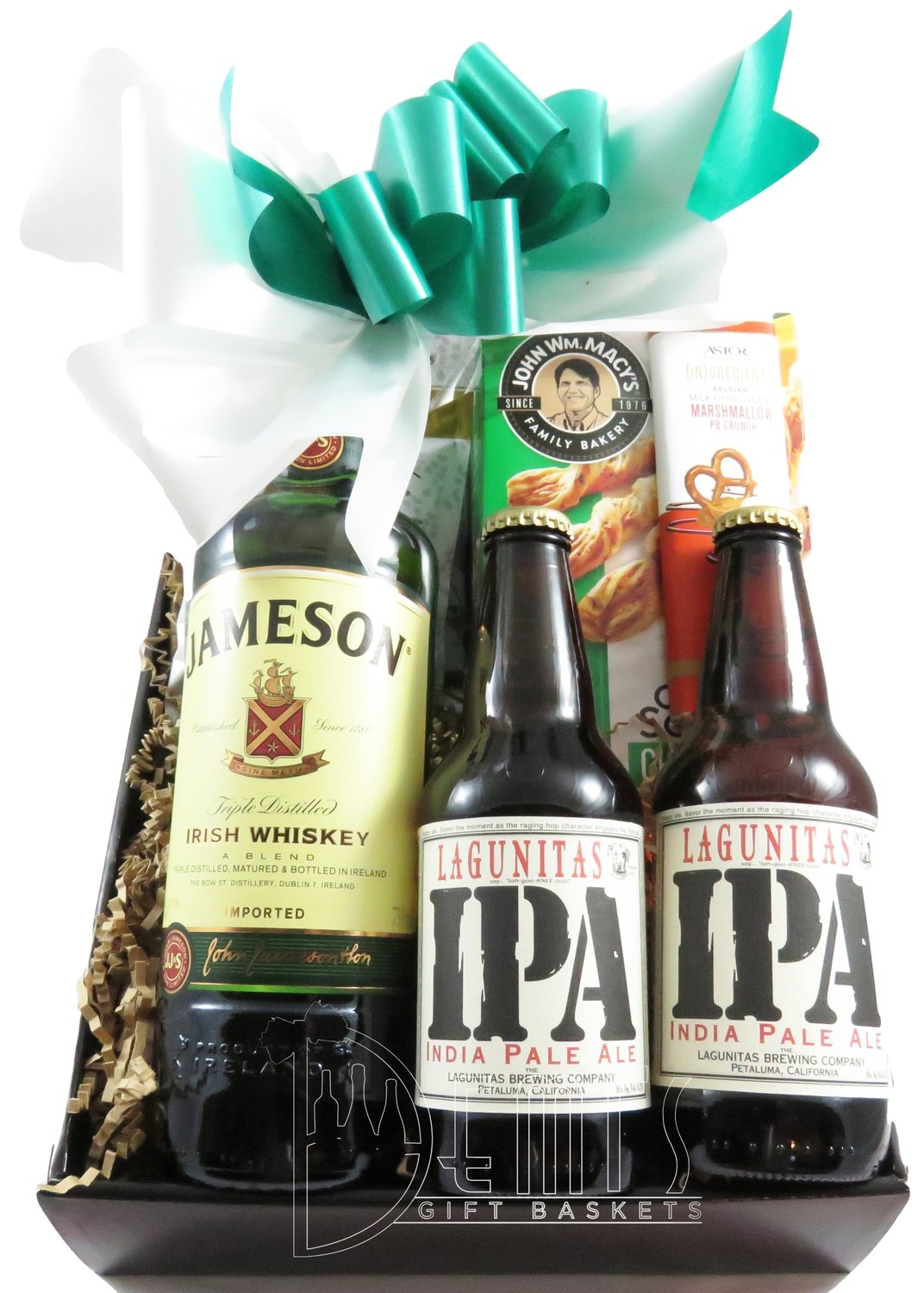 Liquor: Irish Whiskey and Beer Snack box