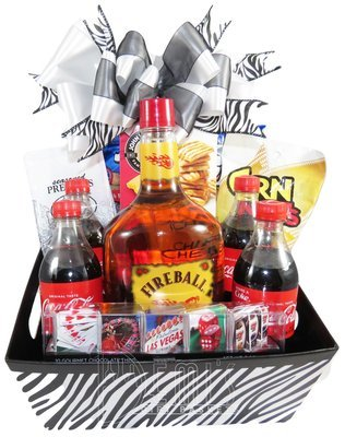 Liquor: Fireball and Coke Party Box