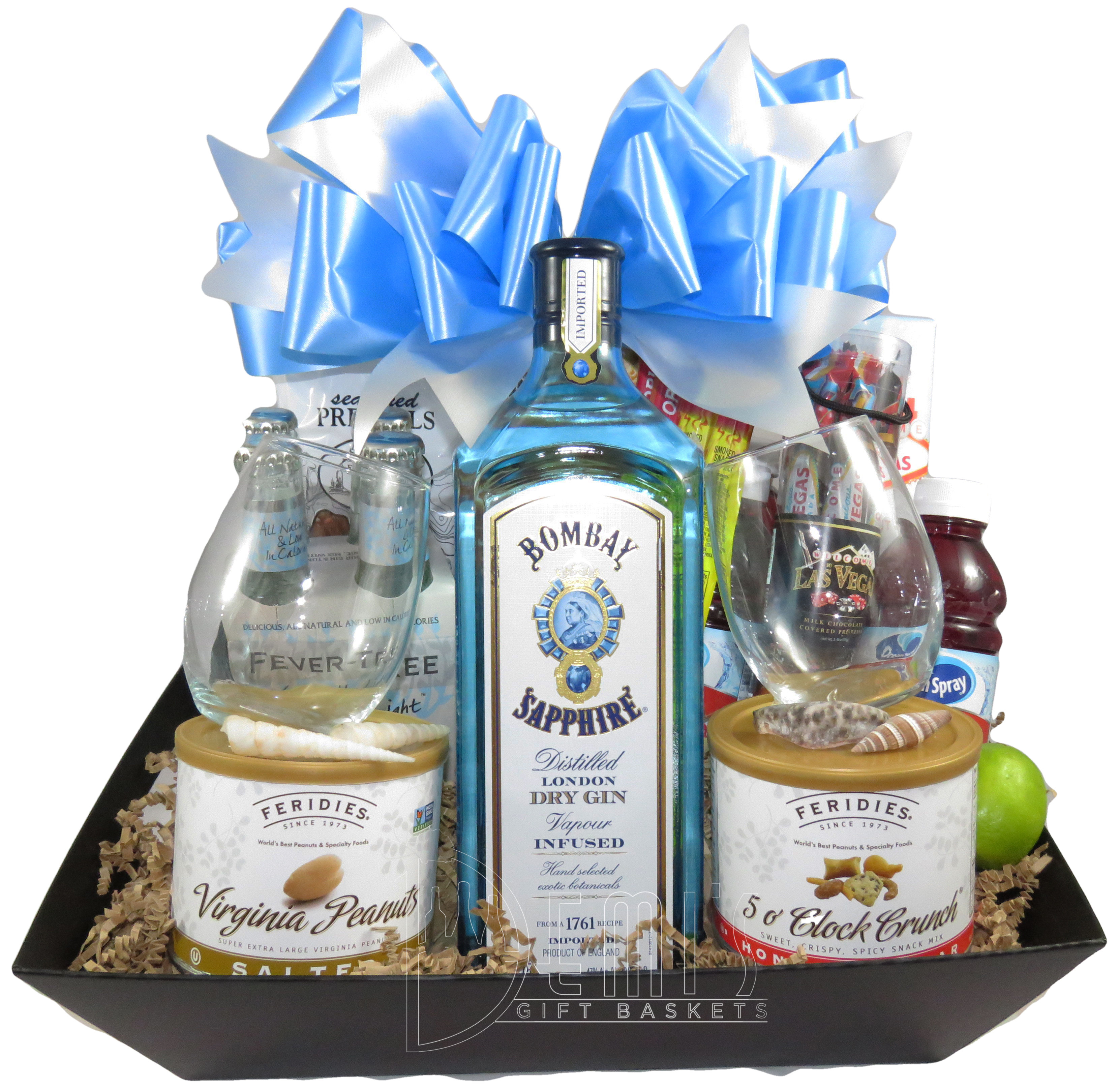 Bombay Sapphire Dry Gin basket MGM-1011