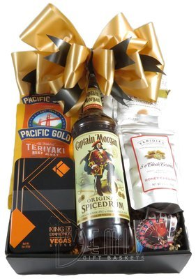 Liquor: Captain Morgan Spiced Rum Snack Box