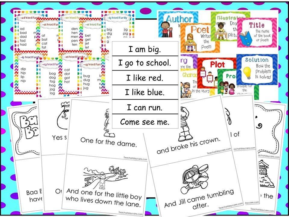 Literacy Curriculum Download  Preschool-Kindergarten  Worksheets and  Activities