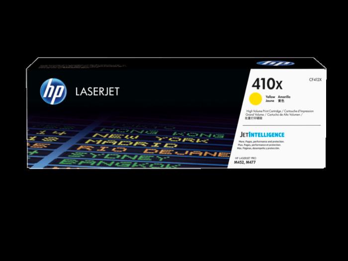 HP 410X 高打印量黃色原廠 LaserJet 碳粉 CF412X