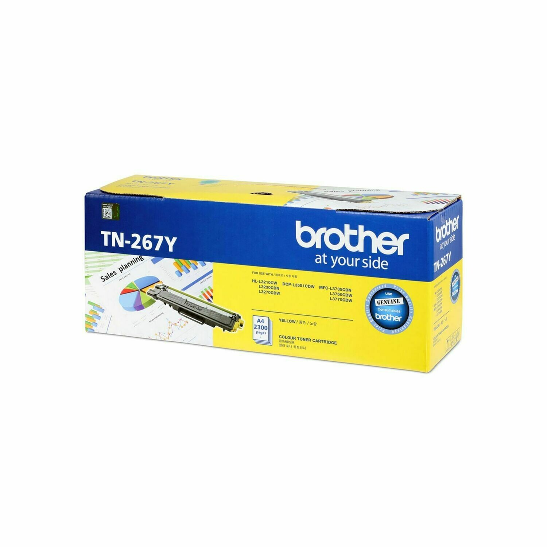 Brother TN267 Y 黃色原裝高容量碳粉盒 TN267Y