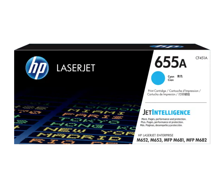 HP 655A 靛藍原廠 LaserJet 碳粉 CF451A