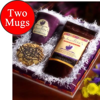 Handcrafted - Two Mugs with Cookies and Coffee