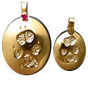 Paw and Nose Print Jewelry in Sterling Silver and 14K Gold