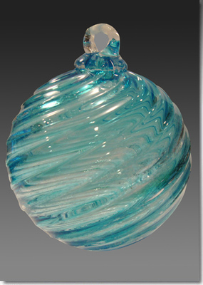 Timeless Sphere Memorial Glass Ornament