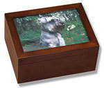 Wood Photo Urn by Howard Miller