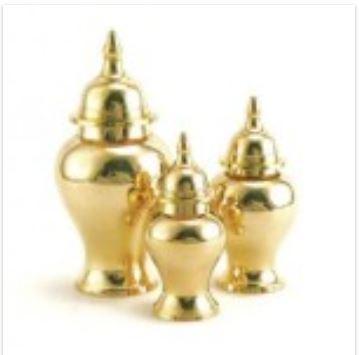 Shiny Brass Urns