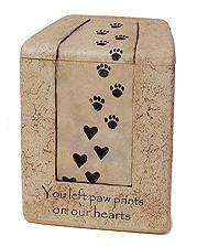Paw Prints On Our Hearts Urns