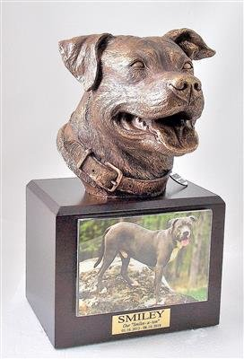 Pit Bull Sculpture and Urn
