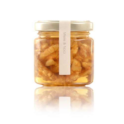 Miele di acacia Noci, Nocciole e Mandorle 225 gr