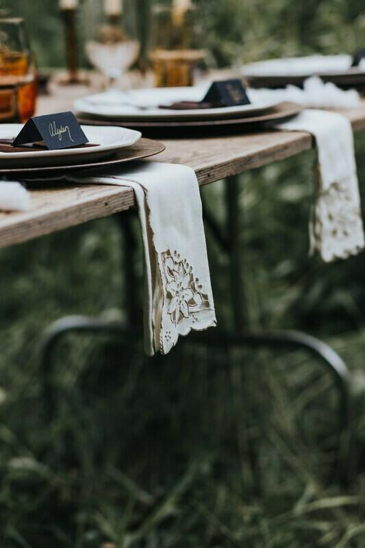Vintage Wood Folding Table