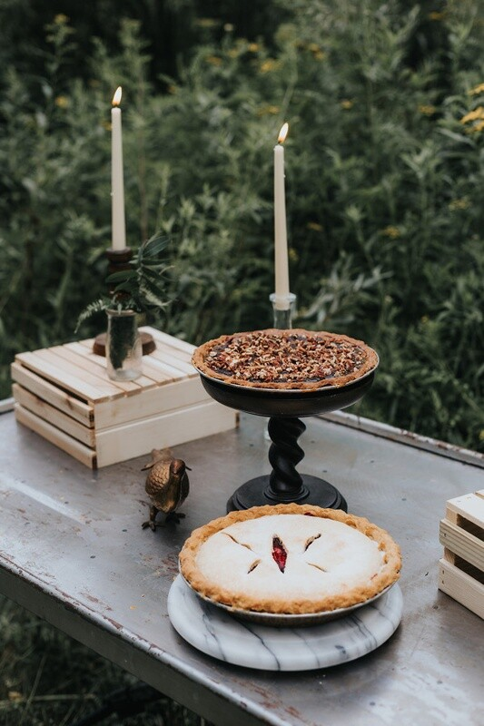 Marble Circle Dessert or Cake Stand