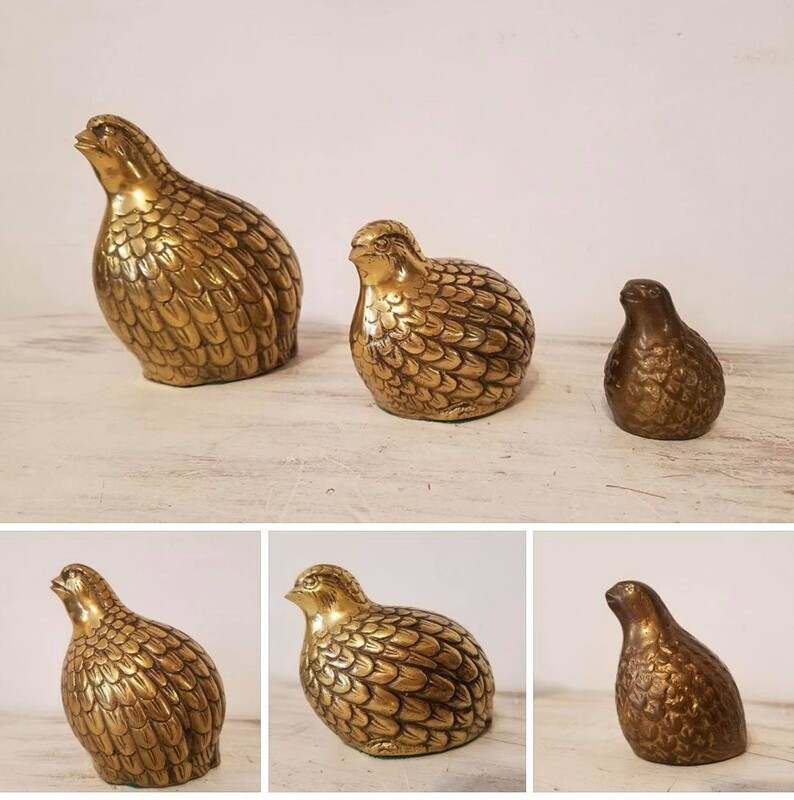 Vintage Brass Animals