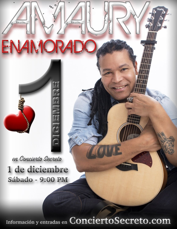 """Amaury Gutiérrez: """"Enamorado"""" - Sábado, 1 de diciembre. 9:00 PM"""
