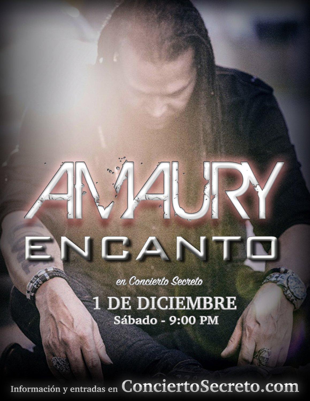 "Amaury Gutiérrez: ""Encanto"" - Sábado, 1 de diciembre. 9:00 PM"