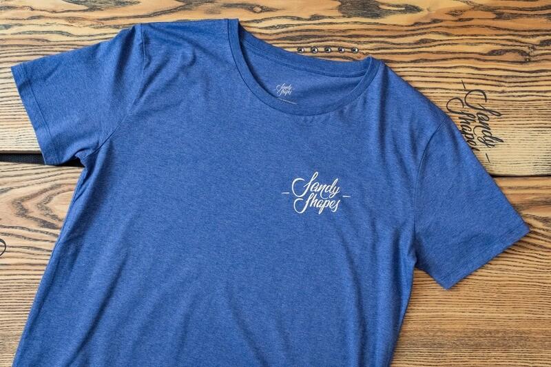 T-shirt Sandy Shapes , indigo