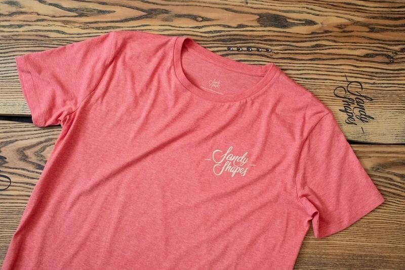 T-shirt Sandy Shapes , corallo