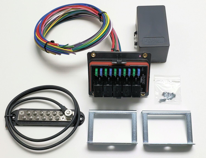 universal waterproof relay/fuse distribution box cooper bussmann w/ground  block