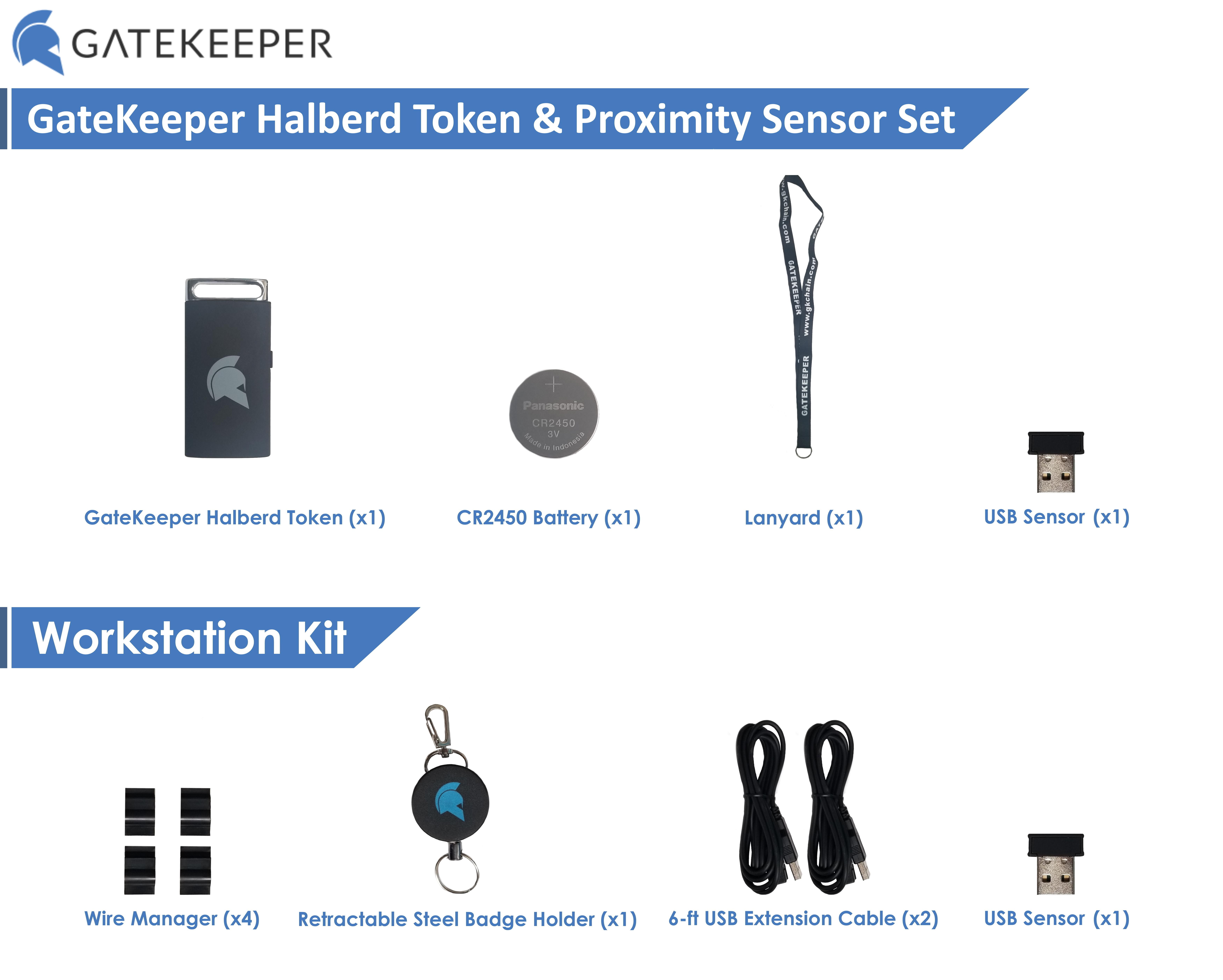GateKeeper Halberd Proximity Token Multipack
