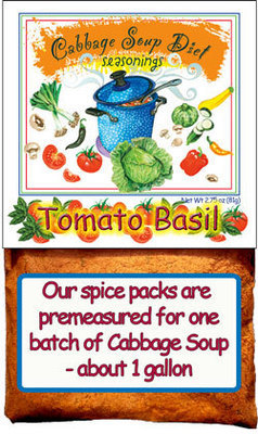 Tomato Basil Cabbage Soup Diet Seasonings