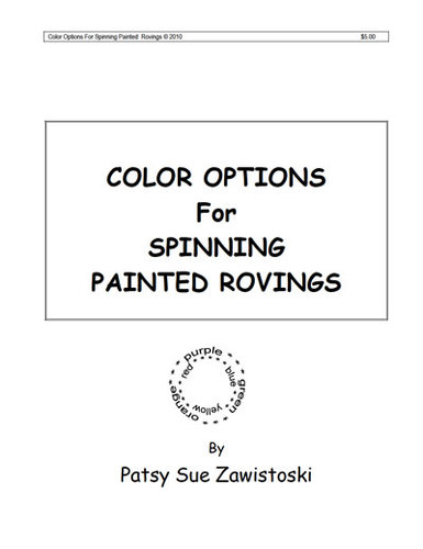 Handspinner's Color Options for Spinning Painted Rovings