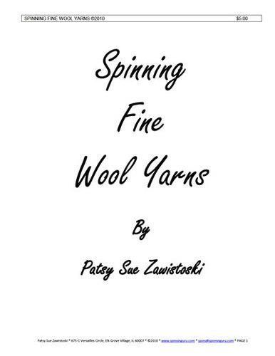 Spinning Fine Wool Yarns