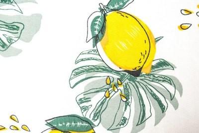 Lemon Print Viscose 21-219-15
